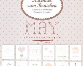Embroidery Kit: perpetual calendar brand Rico