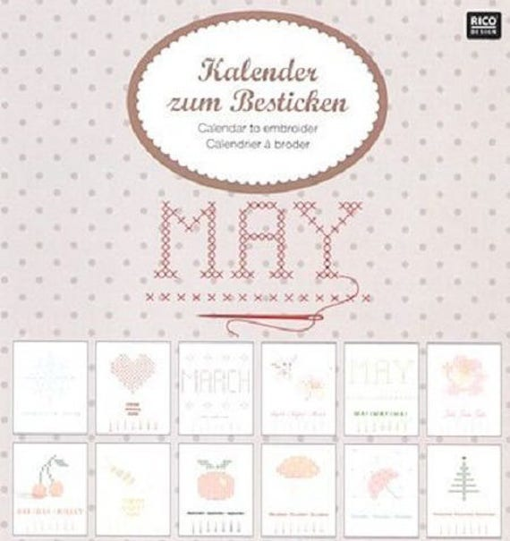 Calendrier Hac.Items Similar To Embroidery Kit Perpetual Calendar Brand