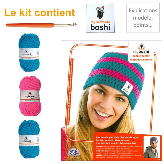 4a0decd599d Kit my boshi turquoise and Pink Hat