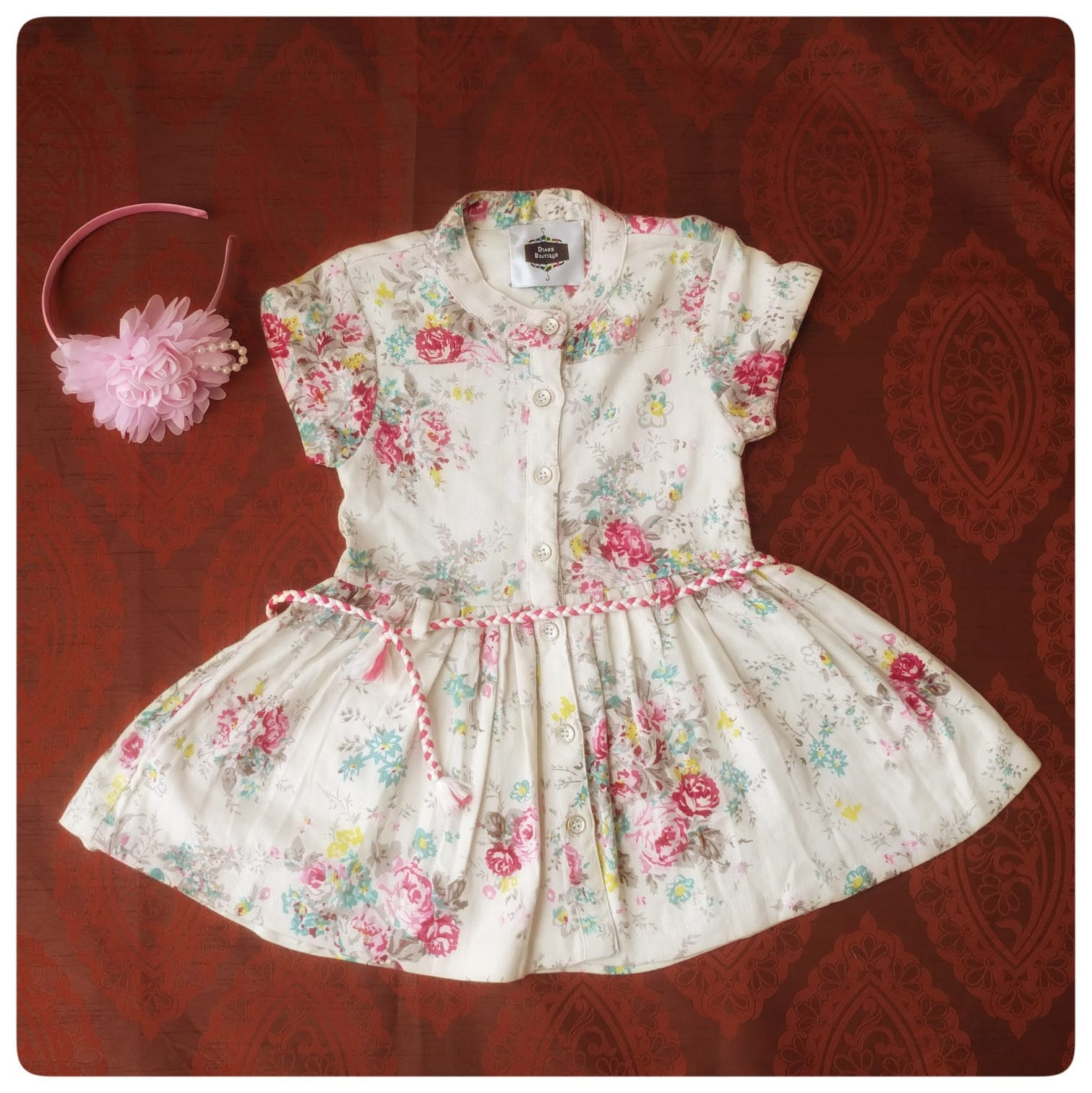 c5588b9fe286 PRE-ORDER Super Cute Cotton Special Occasion Dress with Hair