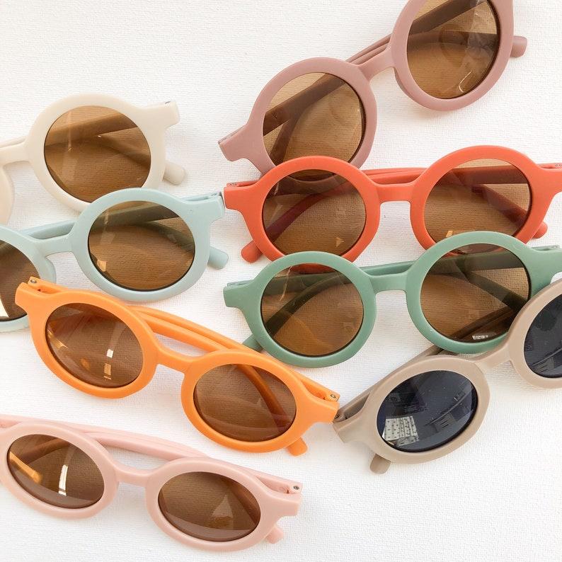 Kids Retro Matte Sunglasses image 0