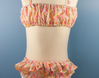 Liberty bikini for little girls from 3 to 10 Years old