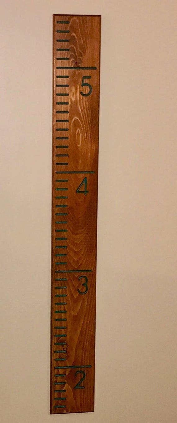Growth Chart Wall Ruler Measure Height Track Your Child Etsy