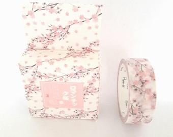Washi tape, washi tape masking tape 15 mm x 7 m, sakura cherry blossom, Japanese landscape theme