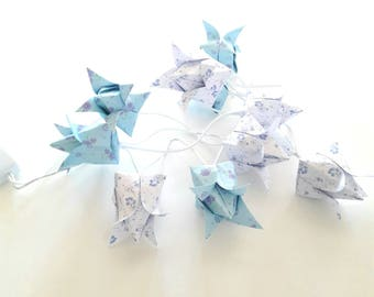 Electric origami string light flowers blueberries 10 slots