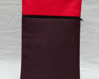 Red and black book with red dots - red pouch