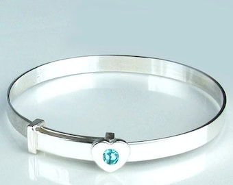 Sterling Silver Ladies Expandable Bangle Bright And Translucent In Appearance Jewelry & Watches