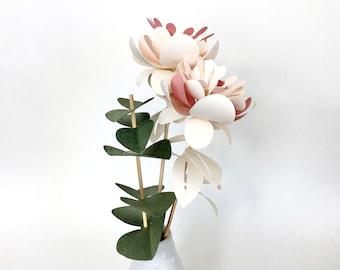KIT DIY bouquet of paper flowers