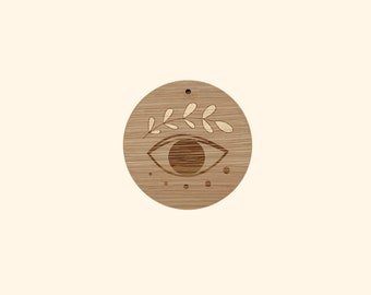 Wooden wall decoration, lucky eye