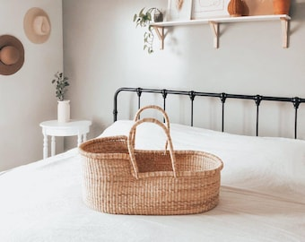 Vegan Handle Moses Basket For Snuggle Me and Dockatot