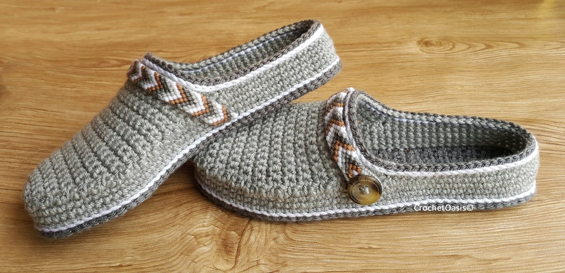 CROCHET PATTERN Women's Tribal Clogs - Crochet Clogs Pattern - Tribal Clogs  - Crochet Shoes - Crochet Shoes Pattern