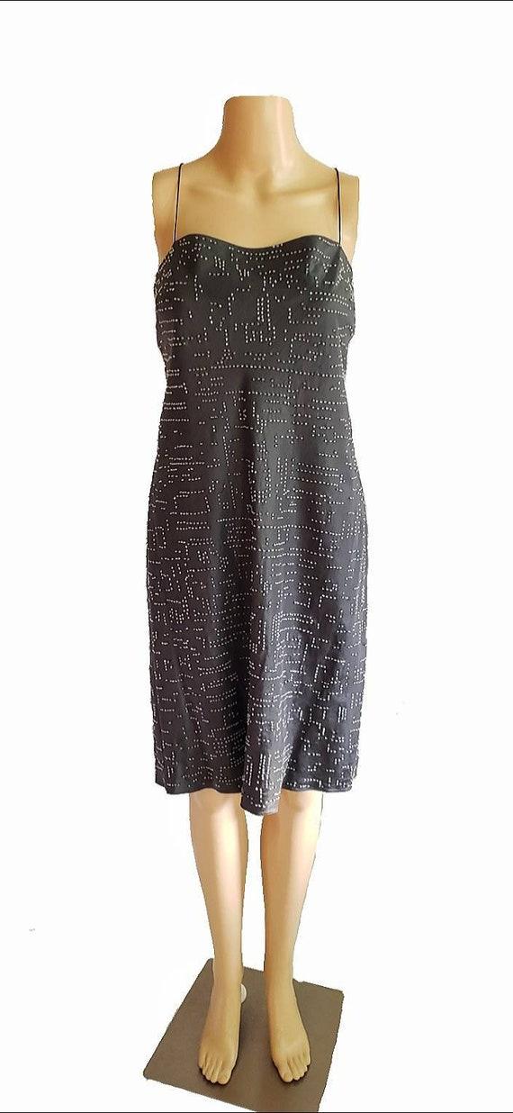 90s DKNY Dress / 90s Slip Dress / 90s Little Blac… - image 2