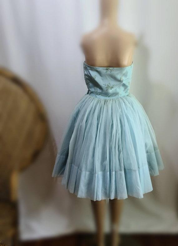 50s Prom Dress / Vintage Prom Dress / Baby Blue /… - image 3