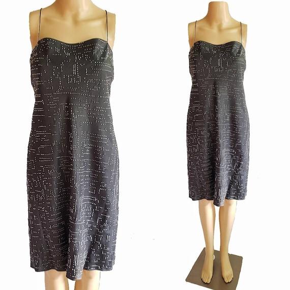 90s DKNY Dress / 90s Slip Dress / 90s Little Black