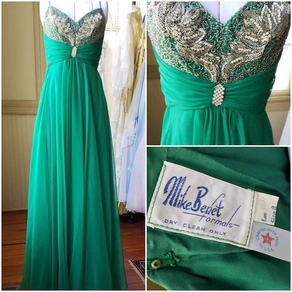 Vintage Prom Dress / SALE / Deadstock / Mike Benet