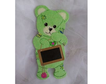 """Teddy bear Happy Api """"name"""" personalized door plate"""