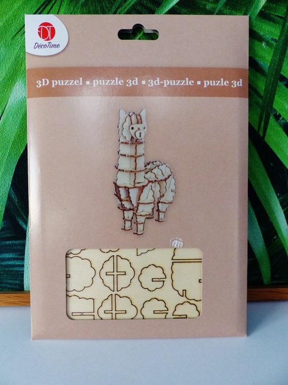 Llama Alpaca decoration for wooden 3d PUZZLE