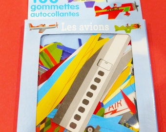 100 airplanes stickers stickers