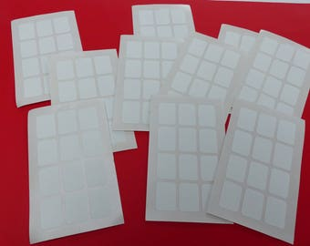 120 self-adhesive white 18 X 25 mm cardmaking scrapbooking bath kitchen decoration