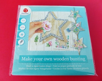 Kit to make wooden stars Garland