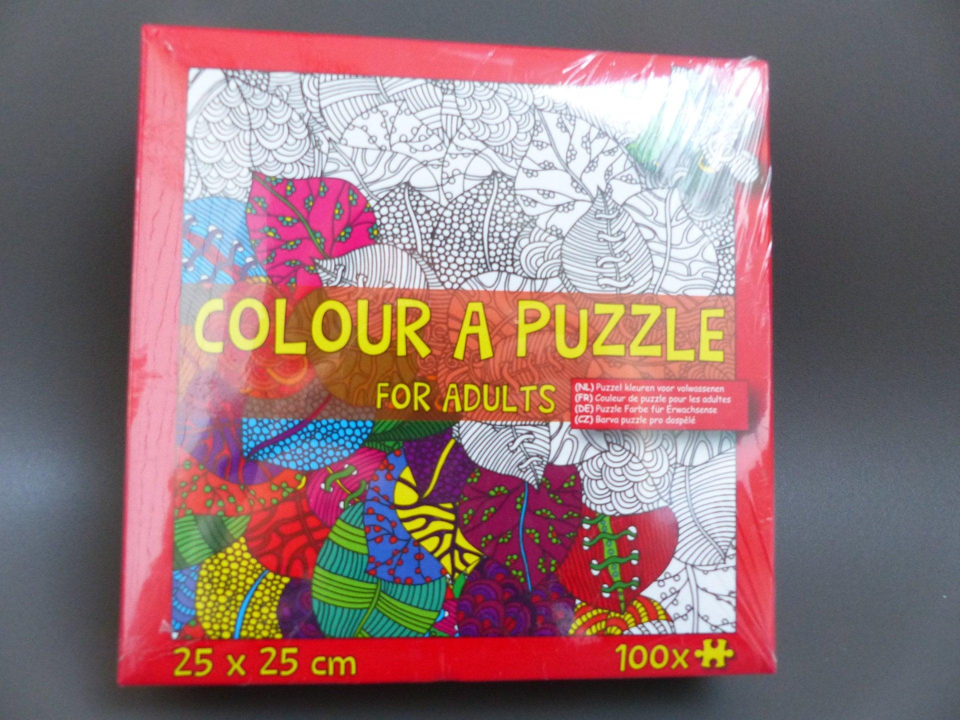 Puzzle Färbung Für Erwachsene Montieren Malen Zerlegen Etsy