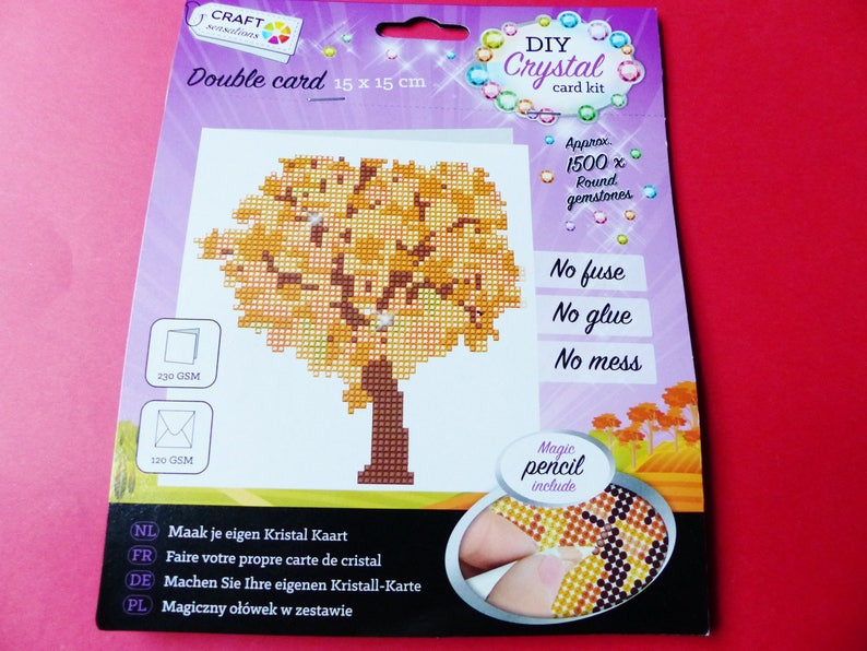 Kit Karte.Crystal Rhinestone Diamond Gem Card Card Making Kit Double 1500 Pieces Tree 15 X 15 Cm Is All Included
