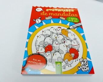 100 Mandala für Kinder Malvorlagen Malbuch mit Sticker Aufkleber Konzentration kreative Entspannung ab 5 Jahren