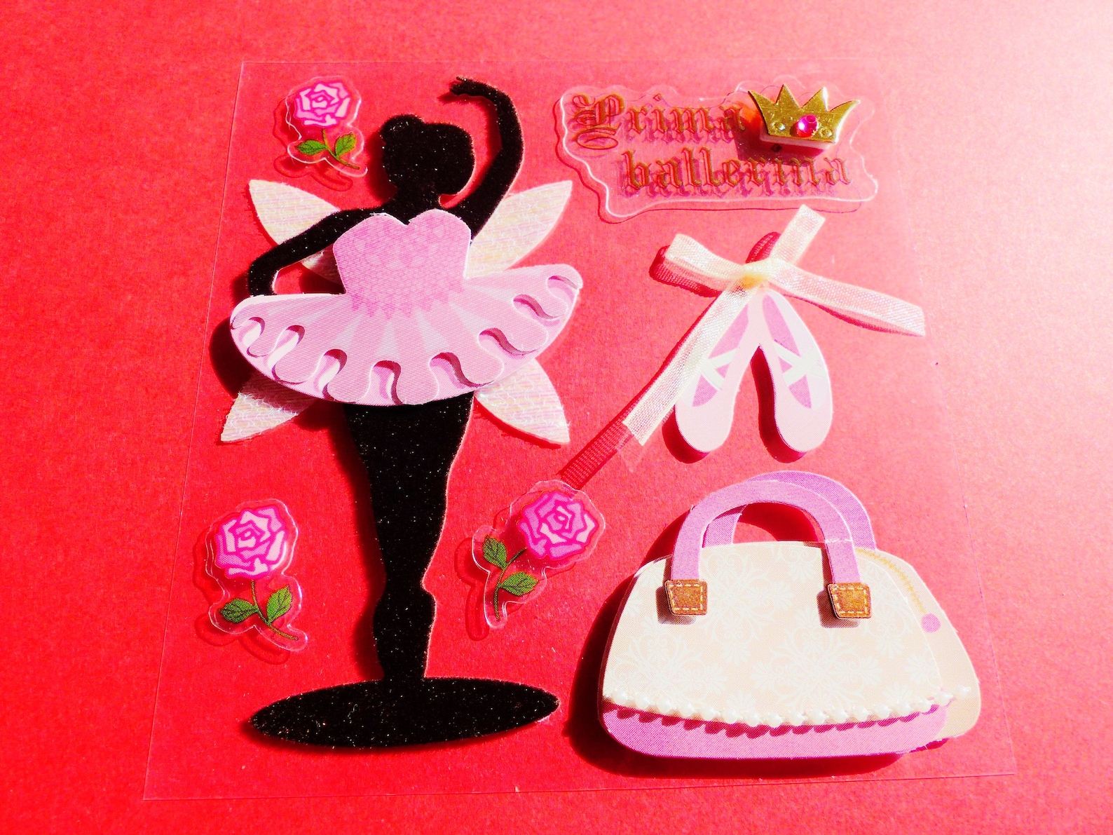 stickers 3d ballerina prima ballerina tutu ballet shoe tip paper dance wall decal stickers pearl velvet fabric