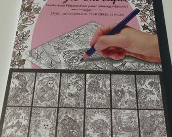 enchanted forest 12 patterns coloring book 24 pages 16 x 24 cm color book