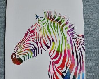 A4 Zebra animal print poster