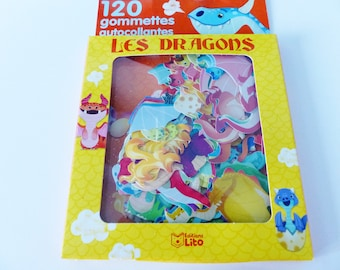 120 stickers stickers dragons