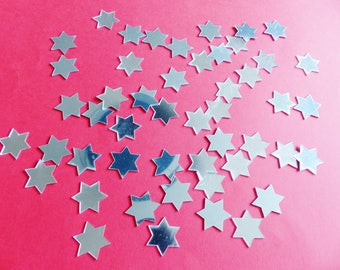 mirror can be used in cardmaking scrapbooking collage Christmas star shaped 50 table decoration