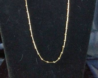 Trifari Signed Chain-within-a-Chain necklace
