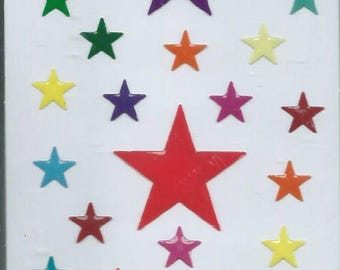 Stickers 3d relief for computers stars Board 12.5 cm x 7.5 cm