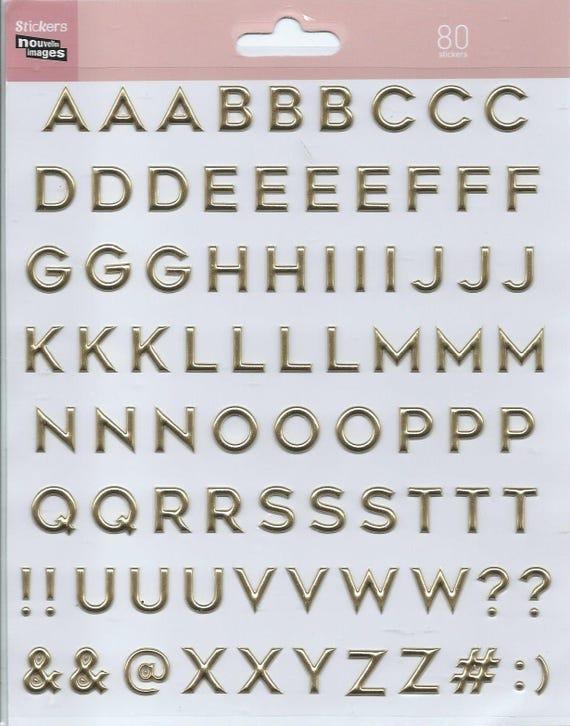 Santa Claus 3d Scrapbooking Letters Alphabet Stickers 20 Cm X Etsy