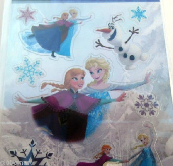 Stickers sticker frozen the snow queen ref 15196 15196