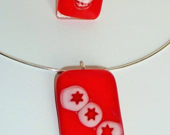 """Finery """"December 24"""" fused glass"""