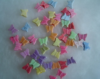 set of 10 mixed colors Butterfly beads