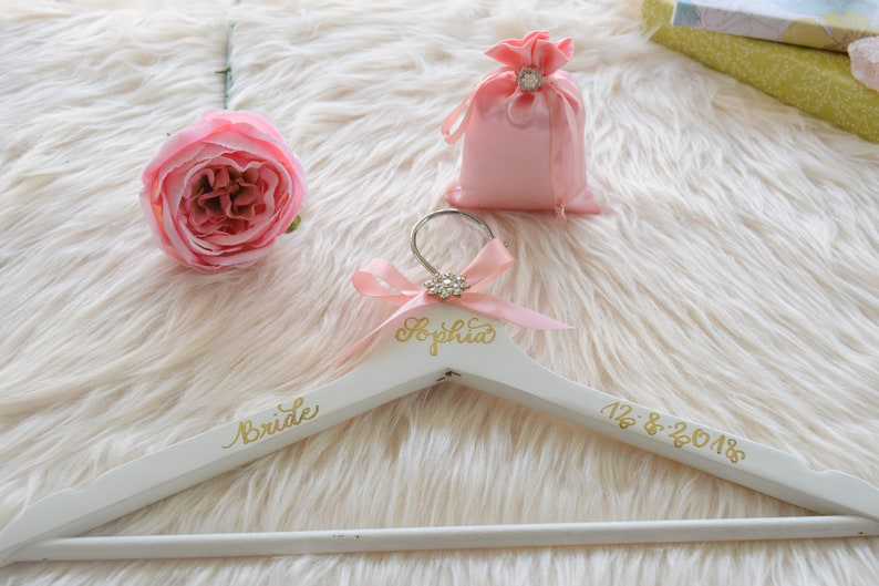 Bridesmaid Gifts  Bridal Gift Personalized Hanger  Bride Hanger