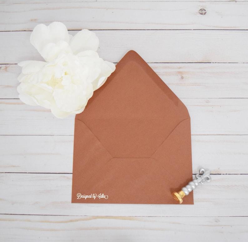 A7.5 Beach Sand Envelopes Sepia Matte Envelopes Bronze Euro Flap Envelopes