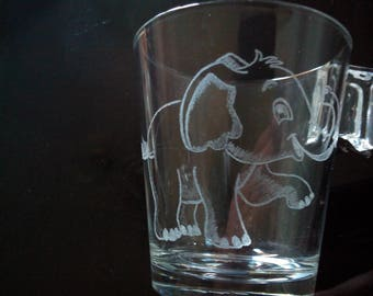 Teacup 8 cm free personalization - elephant print