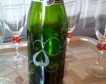 75 cl champagne bottle. free personalization - engraving arabesques