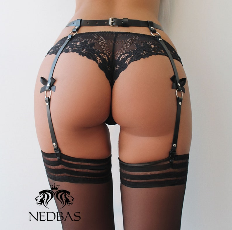 ff4fabbe1 Leather Stocking Suspenders Suspenders for stockings Leather