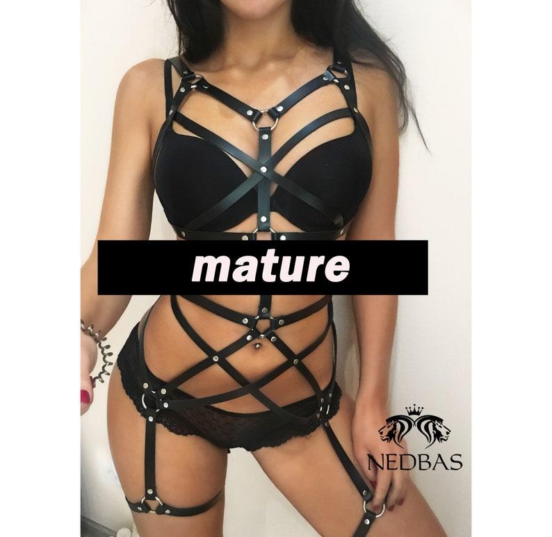 Full body harness lingerie,Bondage harness,Body harness women,Leather body harness,Pentagram harness,Leather harness,Bdsm harness,Mature