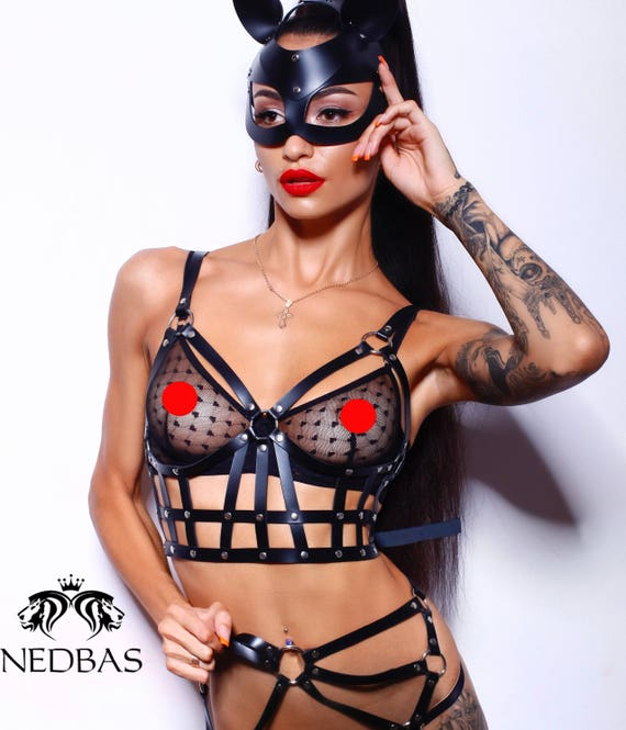e03a884f19122 Women harness Sexy harness Leather harness Bdsm lingerie