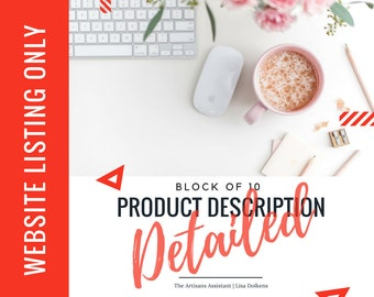 Website - BLOCK of 10 Update your Copy on your Website with a Detailed Product Description Upgrade | Google SEO Rich Kewords Great CTA's