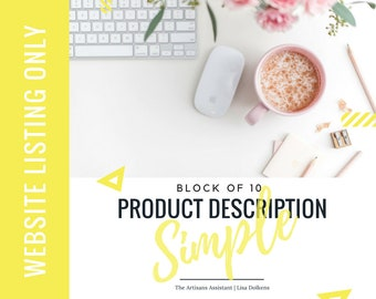 Website - BLOCK of 10 Update your Copy on your Website with a Simple Product Description Upgrade | Keywords and Great Call to Actions