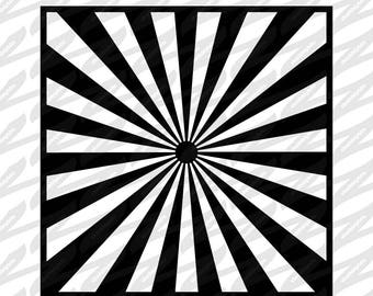 Starburst Stencil - SVG, DXF, PNG, Digital Download, Cut file, Scrapbooking, Stencil, Cutout, Pattern