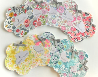 lot of 10 flower dredged bags Liberty baptism