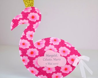 set of 20 bags with sweets for baptism themed Flamingo Pink